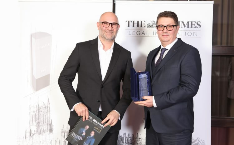 Antonio Iordan si Grigore Valentin in cadrul Galei THE TIMES Legal Innovation 2019
