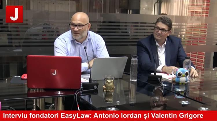 Antonio Iordan si Grigore Valentin in studioul juridice.ro